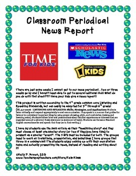 Classroom Periodical News Report