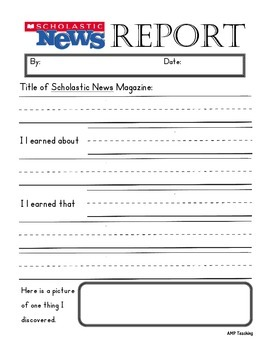 Classroom Periodical Report Forms & Rubric