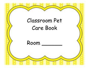 Classroom Pet Care Book