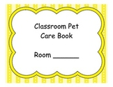 Classroom Pet Care Book