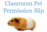 Classroom Pet Permission Slip