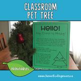 Classroom Pet Tree, Tree in the classroom, Classroom Decor, Class Pet