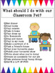 Classroom Pet poster + care student +  parent agreement