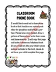 Classroom Phone Book with Parent Note