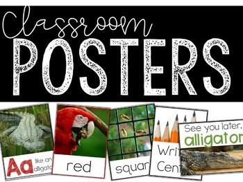 Classroom Photo Posters -  Room Decor Bundle