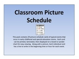 Classroom Picture Schedule Cards
