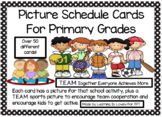 TEAM Sports Kids Theme Classroom Picture Schedule Cards