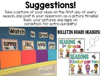 Classroom Picture Timeline {Seasonal}