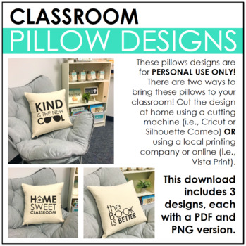 Classroom Pillow Designs