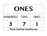 Classroom Place Value Chart