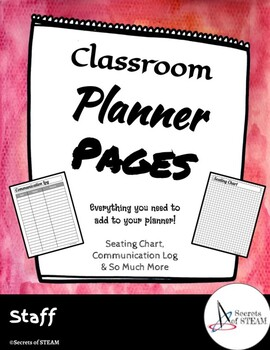 Classroom Planner Pages