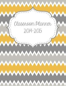 Classroom Planner {Yellow, White, Gray, & Chevron}