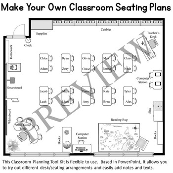 Classroom Planning and Seating Chart Design Tool Kit