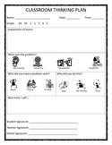 Classroom, Playground, Bus Think Sheets: PBIS Behavior