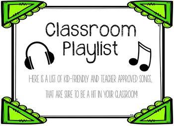Classroom Music Playlist