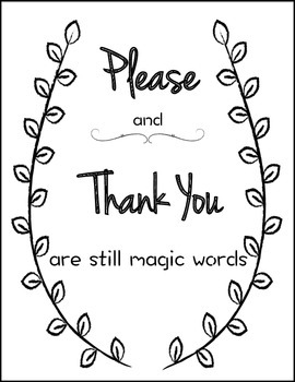 Classroom Please & Thank You Poster