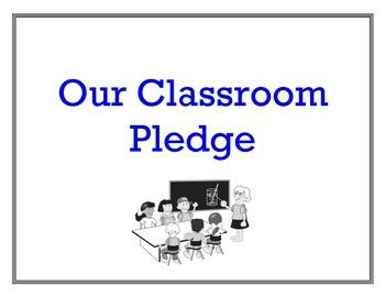 Classroom Pledge