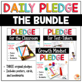 Classroom Pledge - Daily Pledge, Testing Pledge, & Growth