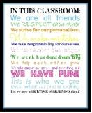 Classroom Pledge Poster