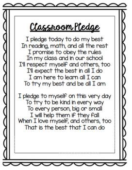 Classroom Pledge PPT *EDITABLE*