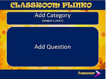 Classroom Plinko Template (add your own questions)