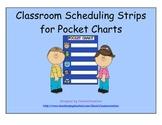 Classroom Pocket Chart Schedule Strips