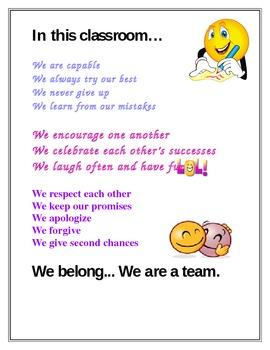 Classroom Poem