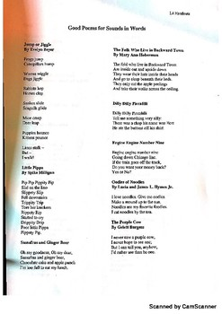 Classroom Poem Packet