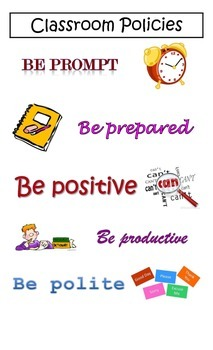 Classroom Policies Poster
