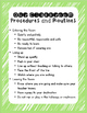 Classroom Policies, Procedures, and Routines FREEBIE