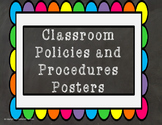 Classroom Policies and Procedures Posters