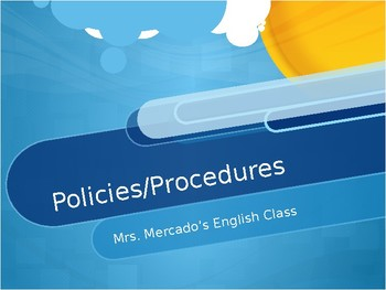 Classroom Policy & Procedures {7th Grade Language Arts}