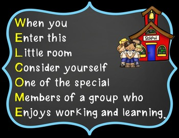 FREE Classroom Poster - WELCOME