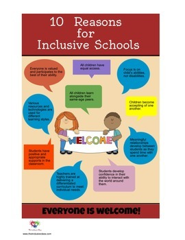 POSTER - 10 Reasons for Inclusive Schools Poster  {FREEBIE!}