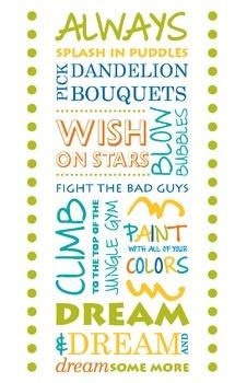 Classroom Poster: Dream 11 x 17