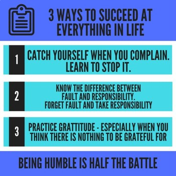 Classroom Poster - 3 Way to Succeed