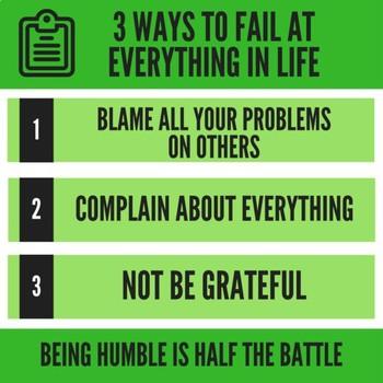 Classroom Poster - 3 Ways to Fail