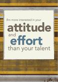 Classroom Poster: Attitude