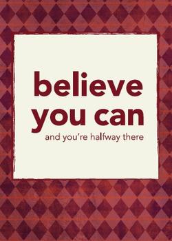 Classroom Poster: Believe