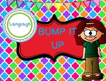 Classroom Poster: Bump It Up Language Poster