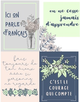 Classroom Poster Bundle: French