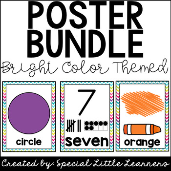 Classroom Poster Bundle (Numbers, Colors, and Shapes)