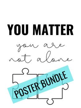 Classroom Poster Bundle: You Matter