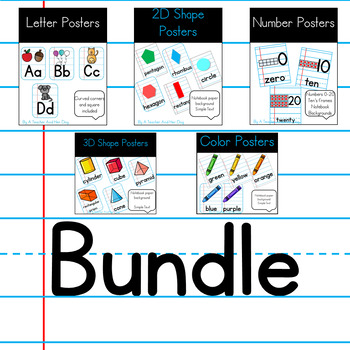 Classroom Poster Bundle with Notebook Paper Background