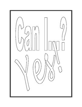 Classroom Poster: Can I...  Yes!