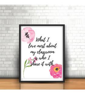 Classroom Poster, Decor, Teacher Quote