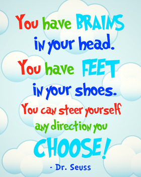 Classroom Poster - Dr. Suess Inspirational Quote
