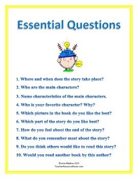 Classroom Poster: Essential Questions