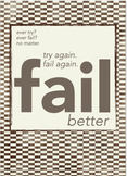 Classroom Poster: Fail Better