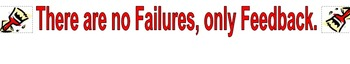 Classroom Poster: Failures=Feedback